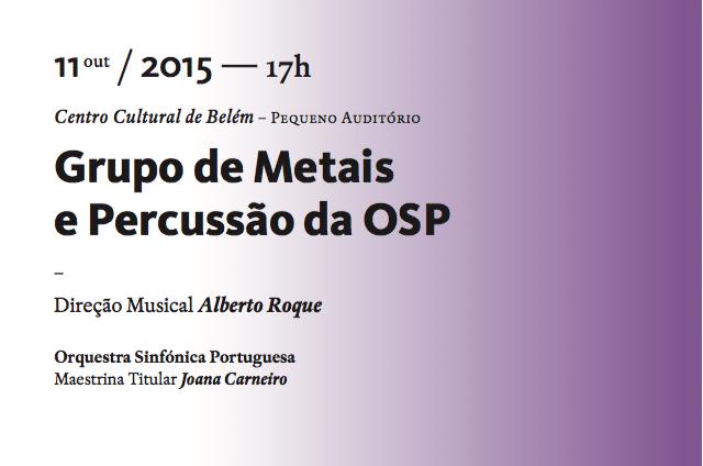 Concerto de Metais e Percussão da OSP