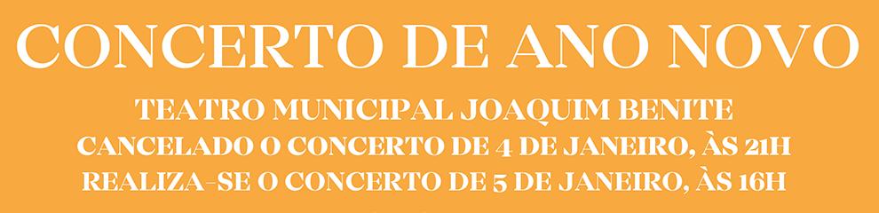 Cancelado o concerto de 4 de janeiro às 21h